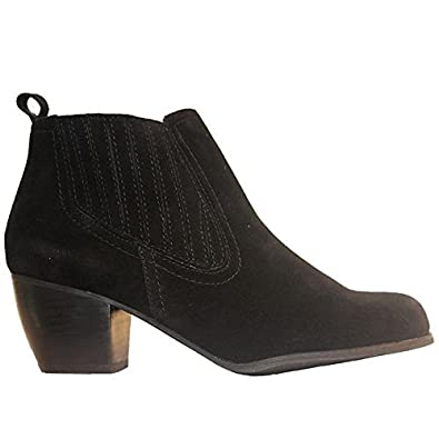 Restricted Wynter - Black Suede Pull-On Bootie - Size  8.5 6357f1dd76