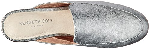 Kenneth Cole Mulo New York Donna Mocassino Slip On Backless Mulo Argento