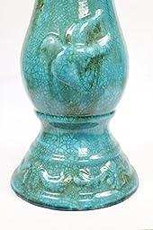 Alpine Corporation Antique Ceramic Birdbath with Birds, 24\