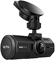 """Vantrue N2 Pro Dual Dash Cam for Car, 1920x1080P Front and Rear Dashcam (2.5K 1440P Single Front Recording) 1.5"""" LCD 310° Car Dashboard Camera w/Infrared Night Vision, Sony Sensor, Parking Mode, Loop Recording, Motion Detection, Support up to 256GB card"""