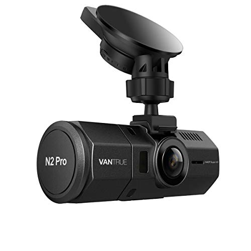 Vantrue N2 Pro Uber Dual Dash Cam Infrared Night Vision Dual 1920x1080P Front and Inside Dash Camera, 2.5K 2560x1440P Single Front, 310 Degree Car Camera, Parking Mode, Support 256GB max, - Light Side Drivers Parking Venture
