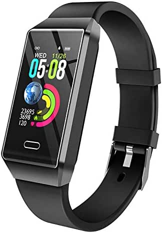 GXFNS Activity Tracker Fitness Watch Waterproof IP67 Fitness Trackers with Heart Rate Monitor/Women Physiological Reminder Smartwatch,Black