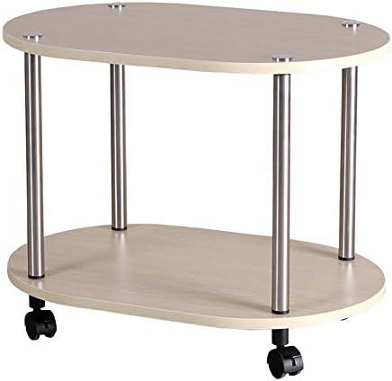 ZR- Tavolino da caffè Semplice Tavolo D'angolo Moda Semplice Tavolo da tè può Muoversi Porta-tè Montare Il Carrello del tè Tavolino (Colore : Wood)