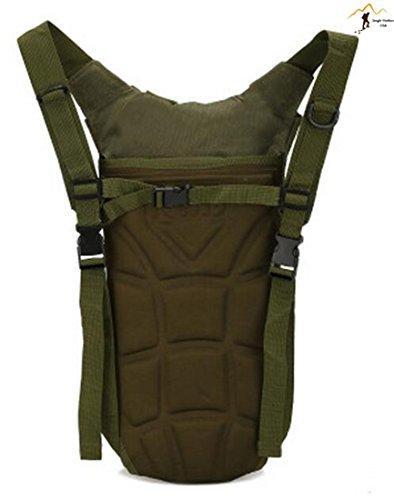Jungle Oxford einteiligen Düse Wasser Rucksack Tasche MOLLE TACTICAL Taschen Wild Tasche Wandern Klettern Radfahren Runner Rucksack, afrikanischen Camouflage Grün