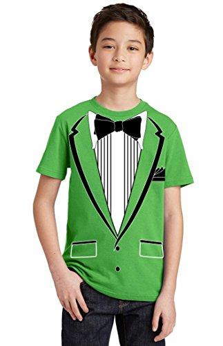 Promotion & Beyond Tuxedo (Black) with Pocket Square Ceremony Youth T-Shirt, Youth M, - Tuxedo Juniors T-shirt