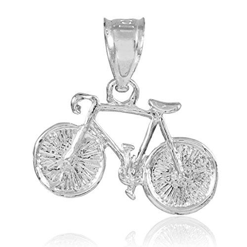 """Petits Merveilles D'amour - 10 ct 471/1000 Or Blanc """"Bicyclette"""" Charm Sport- Pendentif"""