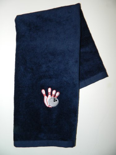 Anvil Terry Hand Towel - Personalized Bowlingタオルデザイン
