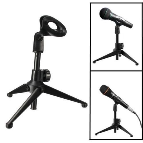 Adjustable Metal Desktop Table Mic Microphone Clamp Clip Holder Stand Tripod SER