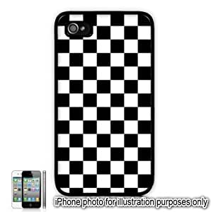Black Checkered Board Flag For Apple Iphone 5C Case Cover Skin Black