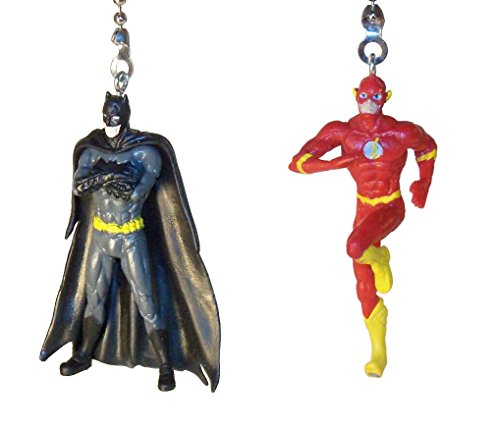 [Batman Joker Wonder Woman Superman Flash Justice League Ceiling Fan Pull Set by Wooden Androyd Studio (Batmand Standing Flash)] (Batman Forever Catwoman Costume)