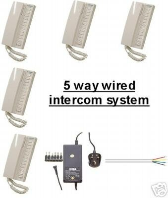 Amazon.com: C8- 5x 5 WAY MASTER WIRED MULTIPLE INTERCOM SYSTEM: Home ...