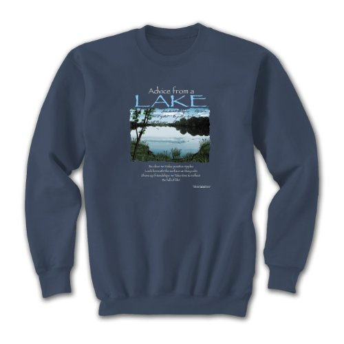 Advice From A Lake ~ X-Lg Sweatshirt Indigo Blue, Calming, Novelty Gift - City Stores In Grove Pa