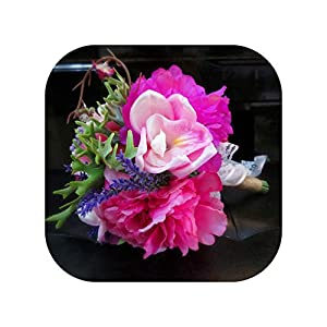 mamamoo Wedding Bouquets Luxury Artificial Boat Orchids Flowers Wedding for Bride Bridal Bouquet 55