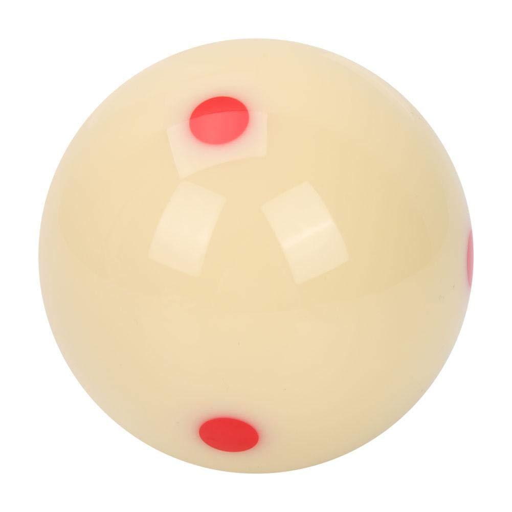 White Tihebeyan 5.72cm Dot-Spot Pool Ball Billiard Training Ball for Kids and Adult