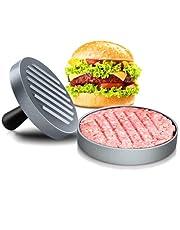 Hamburger Press Hamburger Patty Maker Ideal for BBQ Meat Press Burger Mold Meat Tenderizer Machine (Silver Gray)
