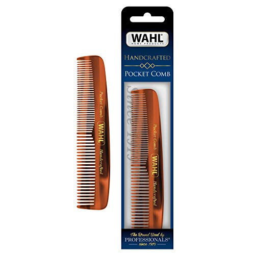 Wahl Men's Beard/Hair Comb, Pocket Men's Grooming Handcrafted Comb for Hair, Beard & Mustache