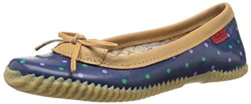 Duck Shoe - Chooka Women's Waterproof Comfort Ballet Flat, Classic Dot Blue, 9 M US