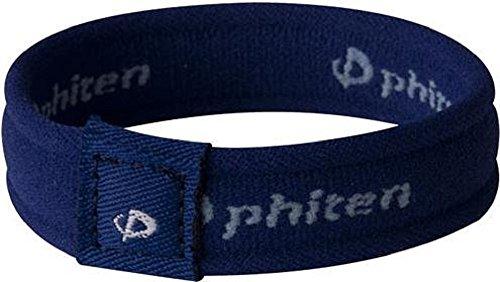 (Phiten 2nd Generation Titanium Bracelet - Navy - 6.75