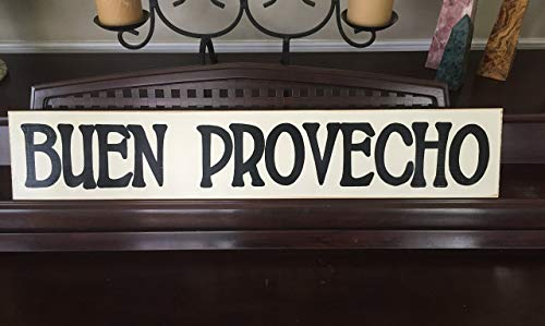 BUEN PROVECHO Spanish Decor Sign Home Wall Art Plaque Hand Painted Wooden Decor U-Pik Color