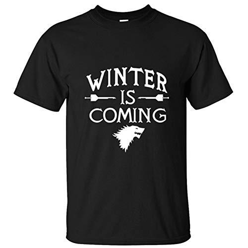 유니코스 게임 오브 왕좌의 게임????스로나즈 윈터 는 노스 디레울프 하우스 오브 스타크 티시트 / younicos Game of Thrones ゲ?ム?オブ?スロ?ンズ Winter is Coming House collection stark The North Direwolf House of Stark Tシャツ メンズ