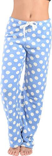 (Active Club Fleece Lounge Plaid Pajama Pants For Women - Adjustable Waistband)