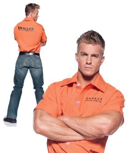 [Men's Prisoner Costume - Shirt] (Robber Adult Costumes)