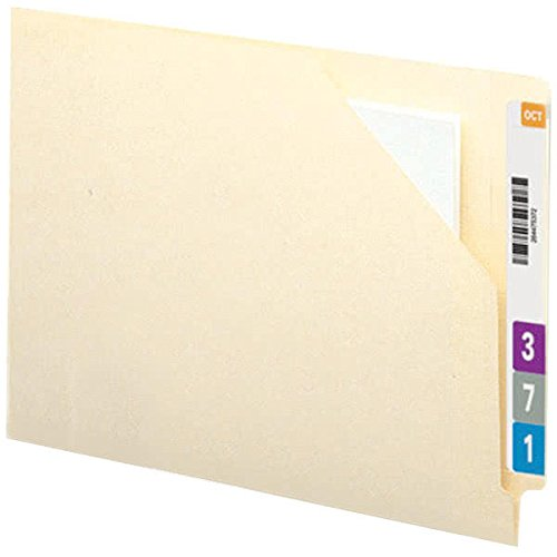 TableTop King 75715 Letter Size Antimicrobial File Jacket - No Expansion with Reinforced Straight Cut End Tab, Manila - 100/Box