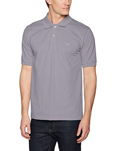 Trigema Herren Regular Fit Poloshirt Polo - Shirt DELUXE Piqué 627601, Einfarbig, Gr. Large, Grau (cool-grey 012)
