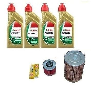 Kit de revisión de filtros para Yamaha XV 535 Virago. Aceite Castrol Power + 1 filtro para aceite + 1 filtro de aire + bujías: Amazon.es: Coche y moto