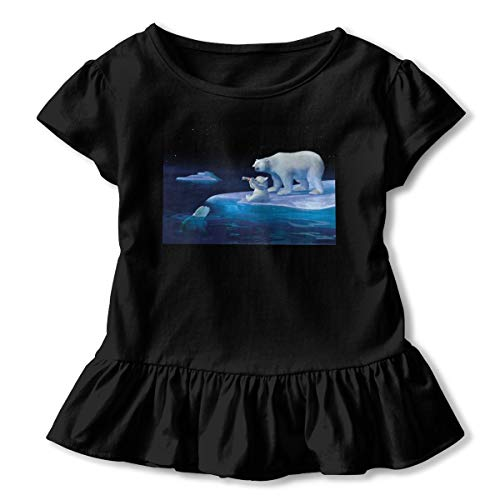 Coca Cola Polar Bears Children Shirt Corrugated Edge Dresses Summer Cotton T-Shirt Black ()
