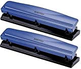 Bostitch 3 Hole Punch, 12 Sheets, Navy Blue