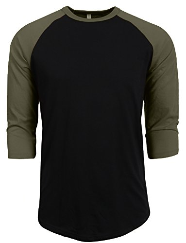 NE PEOPLE Mens 3/4 Sleeve Baseball Tshirt Raglan Jersey Shirt S-2XL