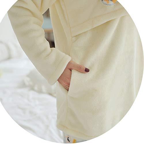 Flanella Vestiti Al Velluto Bianca Fuori Seno Mese L'allattamento Inverno E Corallo Autunno Pigiama Post Incinte Donne Jzx Spessa Abiti Allattamento Vestito Alimentazione parto w4TZxOq0