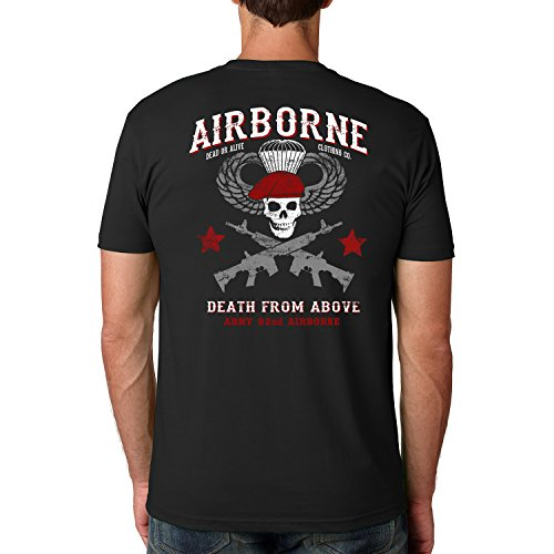 Dead Or Alive Clothing Army 82ND Airborne Cotton Crew Short Sleeve Shirt Medium - T-shirt Mens Alive