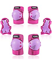 SKL Child/Kids Protective Gear Knee Pads and Elbow Pads 6 in 1 Set for Rollerblading Skating, Cycling, Skateboard, Inline Skatings Scooter, biking Sports