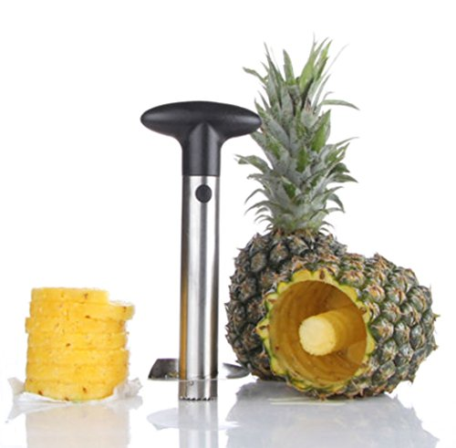 Kitchen Easy Gadget Fruit Pineapple Corer Slicer Cutter Peeler Stainless Steel TKT-11