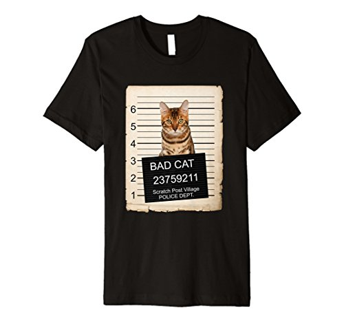 Bengal Cat mug shot bad Cat Premium Shirt