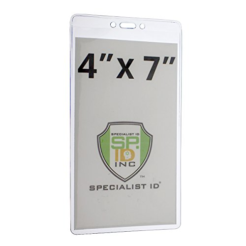 Premium Heavy Duty 4 X 7 Insert - Extra Large Ticket & Badge Credential Holder by Specialist ID, Sold Individually