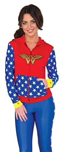 RUBIE'S COSTUME COMPANY Women's DC Comics Wonder Woman Fitted Hoodie  Small/Medium ()