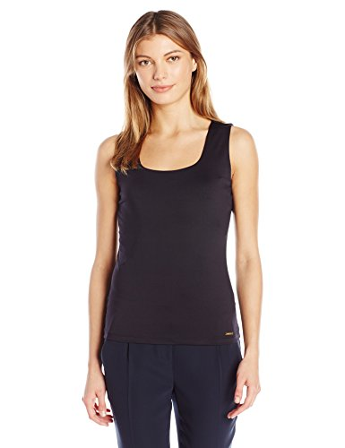 Calvin Klein Women's Sleeveless Seamless Tank, Black, L