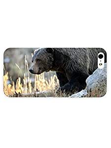 3d Full Wrap For Case Ipod Touch 4 Cover Animal Bear On The Rocks