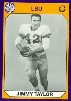- Jim Taylor Football Card (LSU) 1990 Collegiate Collection #13