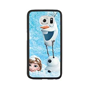Frozen K7J4YO4I Caso funda Samsung Galaxy S6 Caso funda Negro