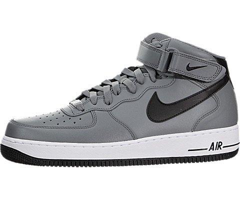 Nike Men's Air Force 1 Mid '07 Cool Grey/Black/White Bask...