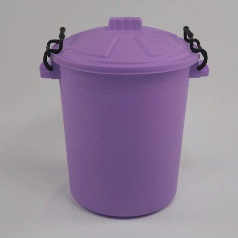 50L PLASTIC HANDLE lilac Garden Storage Dustbin Bin 50 Litre Refuse HEAVY DUTY
