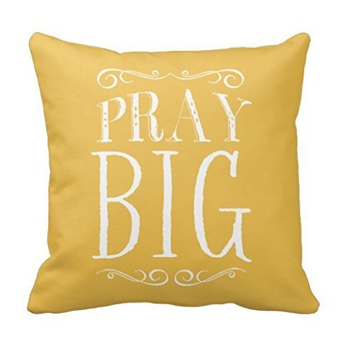 LCUCE Pray Big Yellow Accent Pillow Case