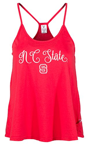 Venley NCAA North Carolina State Wolfpack Rik HI-LO Lampshade Tank T-Shirt, Small, Red - North Carolina State Wolfpack Lamp