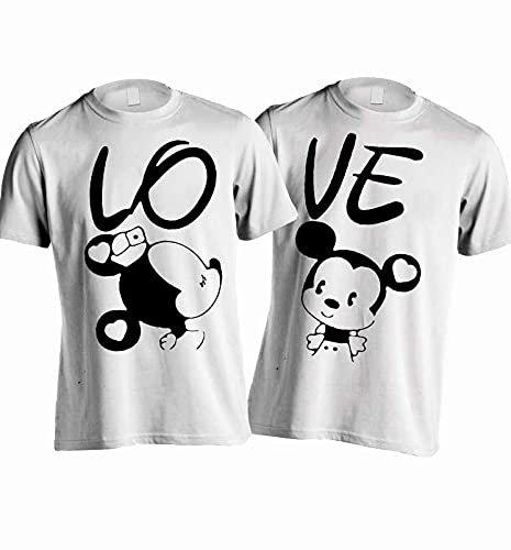 YOUNG TRENDZ White Couple T Shirt