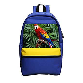 Rainbow Parrot Schoolbag girl boy backpack, designed for children fashion backpack