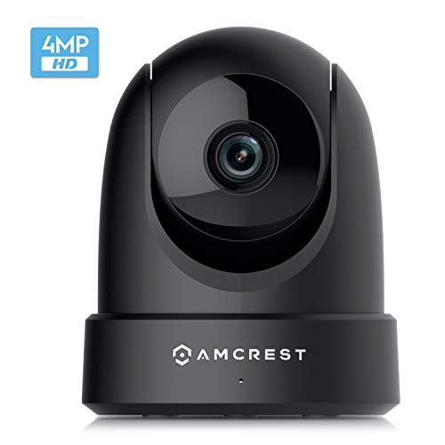 Amcrest 4MP UltraHD Indoor WiFi Camera, Security IP Camera with Pan/Tilt, Two-Way Audio, Night Vision, Remote Viewing, Dual-Band 5ghz/2.4ghz, 4-Megapixel @~20FPS, Wide 120° FOV, IP4M-1051B (Black)